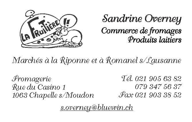 Sabine Overney - produits laitiers