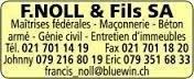 F.NOLL & Fils SA - Maçonnerie - Béton armé - Génie civil