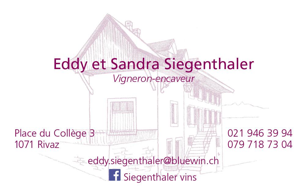 Vigneron-encaveur, Eddy et Sandra Siegenthaler